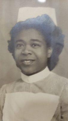 Lillie Johnson in her nursing uniform
