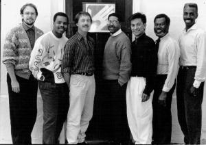 National Task Force on AIDS Prevention, Team from 1991, Alan McCord, Gavin Morrow Hall, Steve Feedback, Al Cunningham, Juan Rodriguez, James Fondeux, and Reggie Williams.