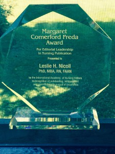 MCF Award for Editorial Leadership in Nursing Publication