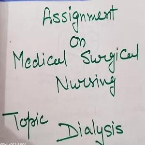 Medical Surgical Nursing- Nursing Assignment on Dialysis