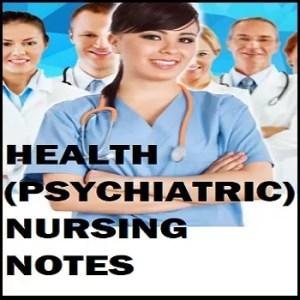 MENTAL HEALTH PSYCHIATRIC NOTES