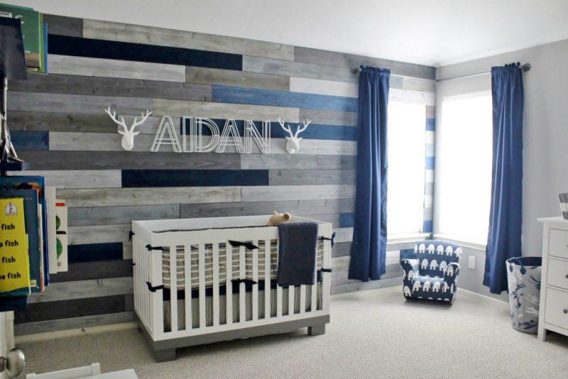 Baby Boy Nursery Ideas - Modern and Rustic Nursery