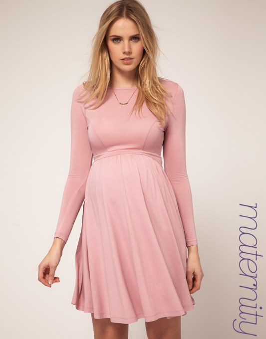 Pink maternity dresses for baby shower - Long Sleeve Maternity Dresses