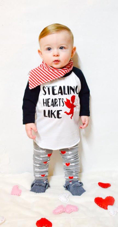 newborn baby boy - Baby Boy valentines outfit