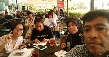 Suasana jumpa pers awak media dan blogger bersama situs properti Rumah123.com (foto dok pribadi Nur Terbit)