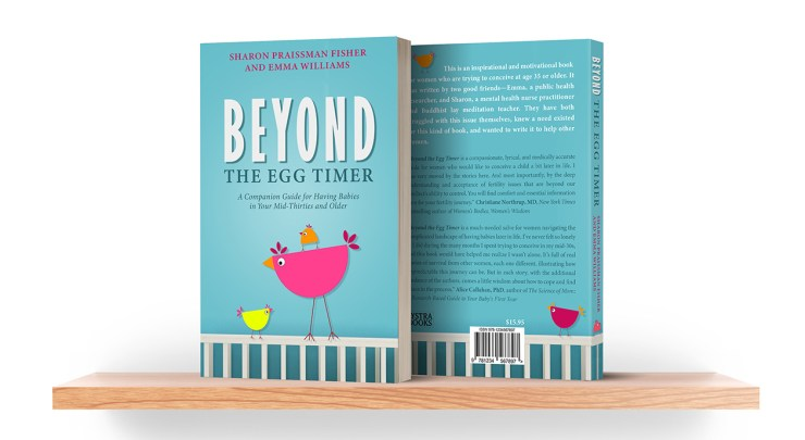 This si a picture of the book, Beyond The Egg Timer.  It is a must read for anyone having a baby over 35.