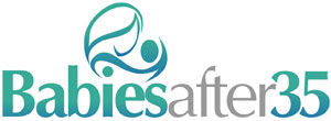 This is the logo for Babies after 35, a great website supporting moms of advanced maternal age.