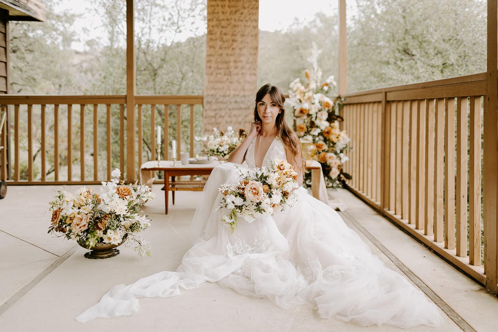 Winter cabin elopement wedding inspiration