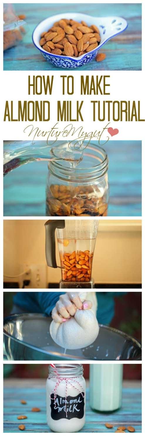 how to make almond milk tutorial