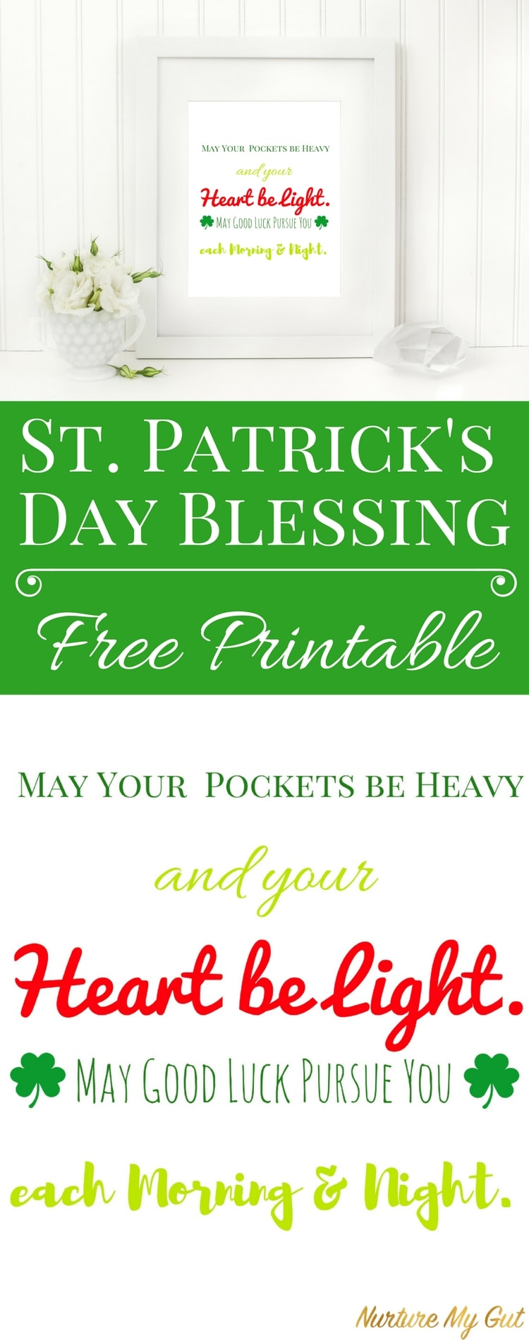 Free St. Patrick's Day Printable Blessing