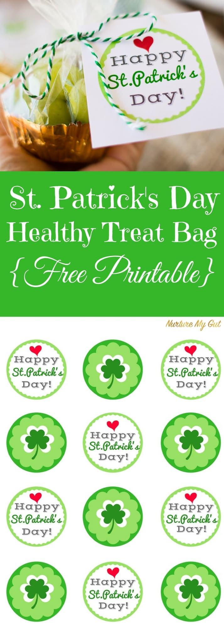 St. Patrick's Day Healthy Treat Bag