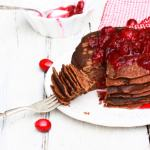 gingerbread pancakes with cranberry compote