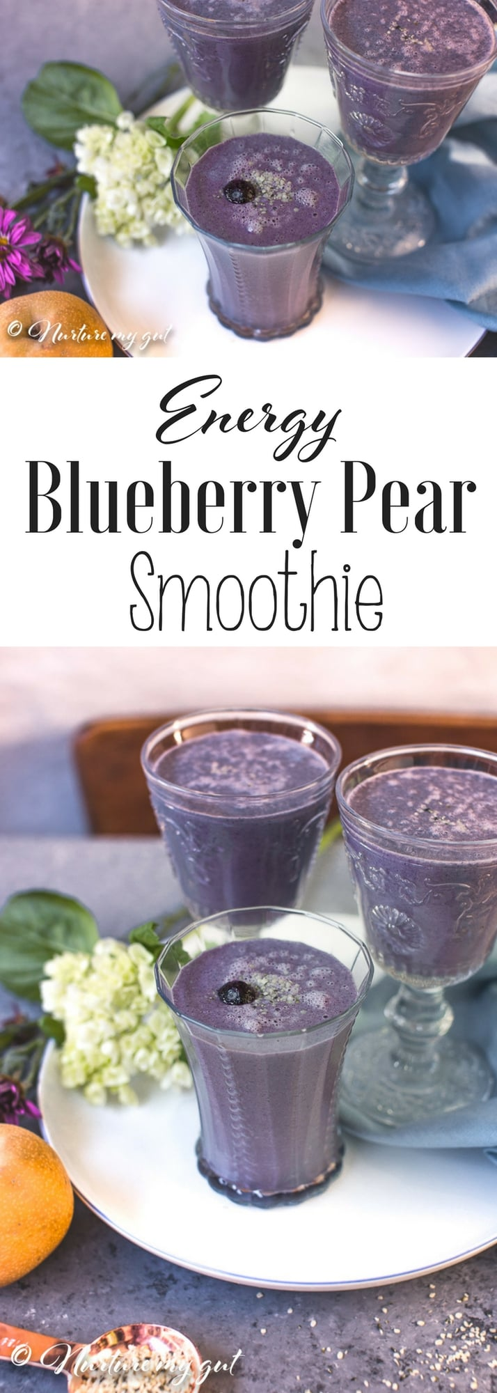 Energy Blueberry Pear Smoothie