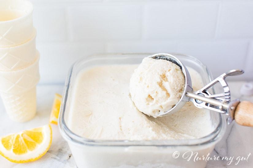 No-Churn Vegan Meyer Lemon Ice Cream