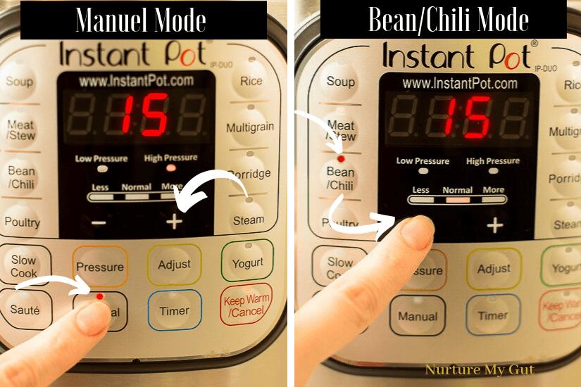 Instant Pot Chili Bean time settings