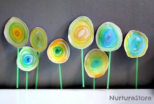 Spring Art For Kids Watercolor Flowers NurtureStore