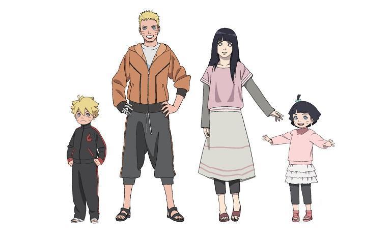 Dua Anak Cukup Boruto, Naruto, Hinata dan Himawari