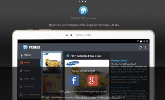 App Samsung Galaxy Gift Indonesia