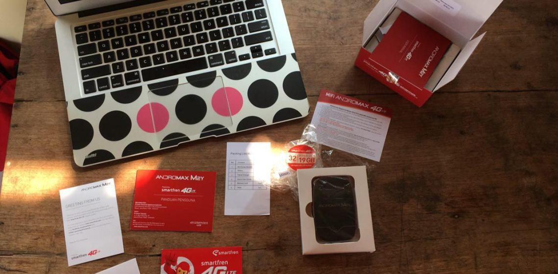 Salah satu Mesin Online saya Smartfren Modem M2Y 4G LTE