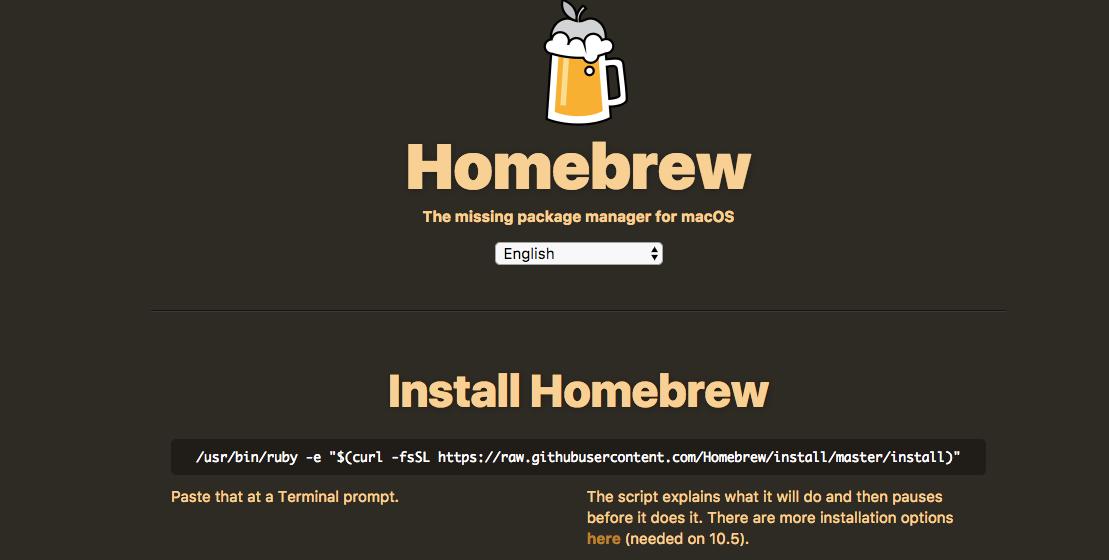 Brew atau HomeBrew di MacOS Sierra