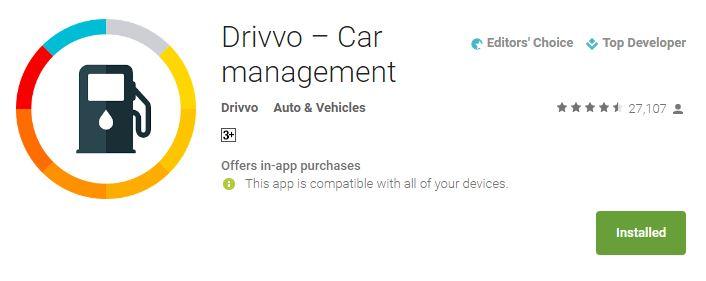 Drivvo car management