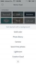 Memulai baru memilih background adobe spark post