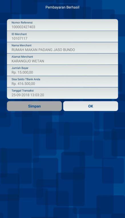 Beli Nasi Padang Pay by QR BRI