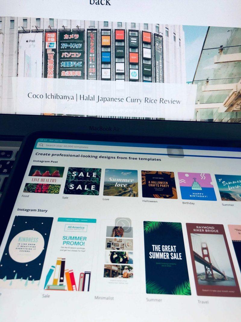 Blog image with Ipad Canva interface
