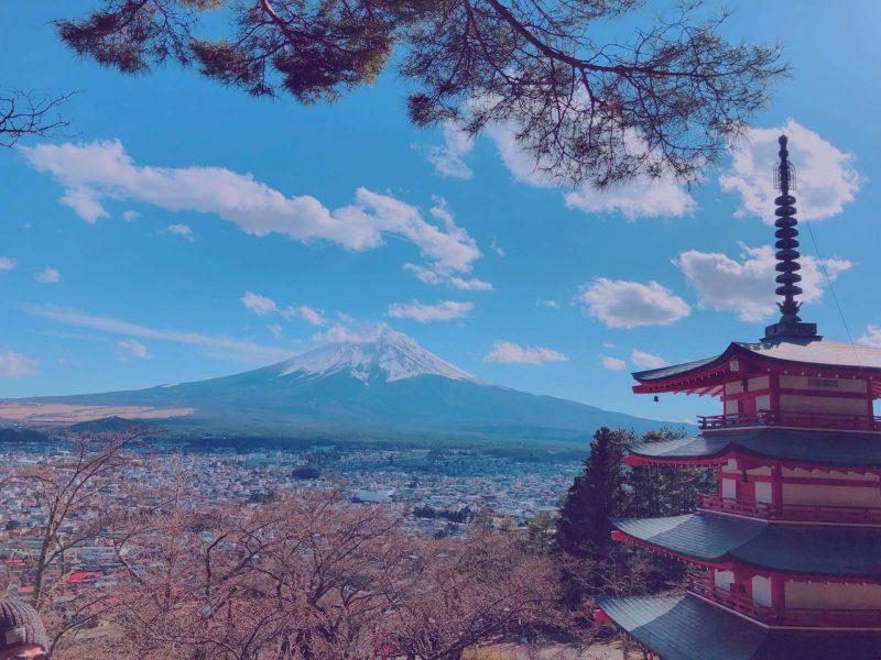 Chureito Pagoda And Mt. Fuji