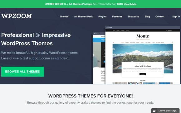 WordPress Themes & Website Templates by WPZOOM