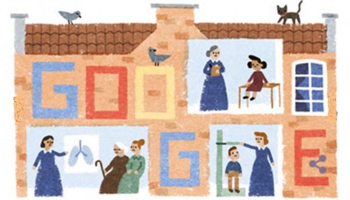 Doodles Google - Elizabeth Garrett Anderson birthday
