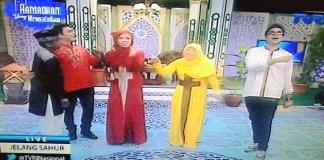 Host TVRI Gunakan Baju Mirip Lambang Salib Saat Acara Ramadhan