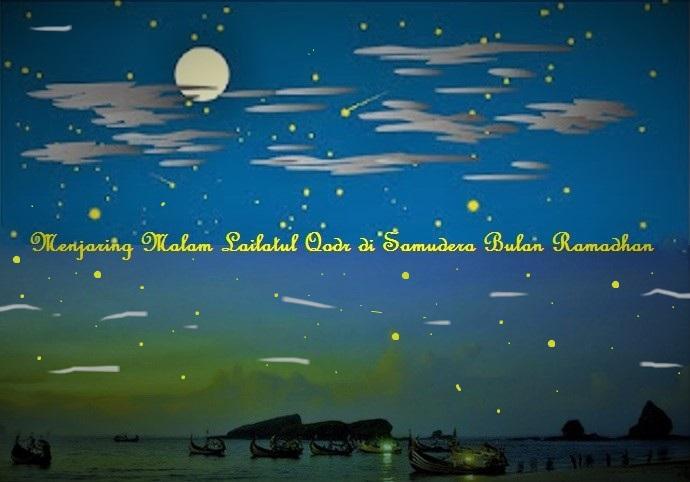Menjaring Malam Lailatul Qodr di Samudera Bulan Ramadhan/Ilustrasi SelArt/Nusantaranews