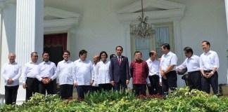 Foto Berasama Menteri Baru Produk Reshuffle Kabinet Kerja Jilid II/Foto via detik