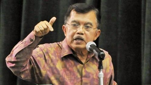 Dok. Jusuf Kalla di atas Podium/Foto Nusantaranews via posmetro-medan