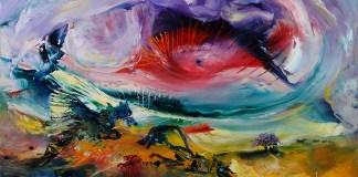 Seeing Illusions (2012), 16x24, Oil no Metal by Dario Campanile/ILustrasi via Campanilefineart