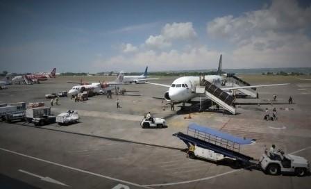 Kondisi aspal rusal di Bandara Internasional Ngurah Rai, Bali/Foto nusantaranews via anshora