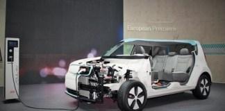 Mobil listrik Kia Soul EV/Foto nusantaranews (detik/KIA via Newspress)