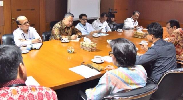 Mendesa Eko Putro Sandjojo berdiskusi dengan pimpinan KPK, Senin (8/8)/Foto: Istimewa