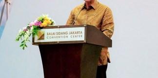LUhut B Pandjaitan di podium acara The 15th World Renewable Energy Congres (WREC) 2016/Foto Andika