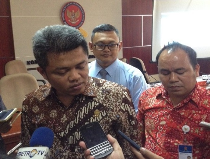 Ketua KPPU Syarkawi Rauf beserta jajarannya/ Foto Deni