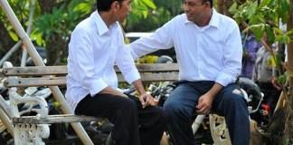Presiden Joko Widodo dan Cagub DKI Anies Baswedan/Foto: dok. Intelejen