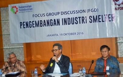 I Gusti Putu Suryawirawan pada acara Focus Group Discussion (FGD) Pengembangan Industri Smelter di Jakarta, Rabu (19/10)/Foto: Dok Kemenperin