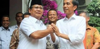 Pertemuan Jokowi dengan Prabowo di Jalan Kertanegara, Jakarta Selatan, Jumat (17/10/2014)/Foto: Dok. Kompas.com