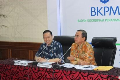 Kepala BKPM Thomas Lembong saat konferensi pers paparan capaian realisasi investasi Triwulan III 2016 di kantor BKPM, Jakarta, Kamis(27/10/2016)/Foto Andika / Nusantaranews