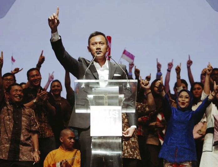 Agus Harimurti Calon gubernur DKI nomor urut 1 saat pidato politik. Foto Dok. @AgusYudhoyono