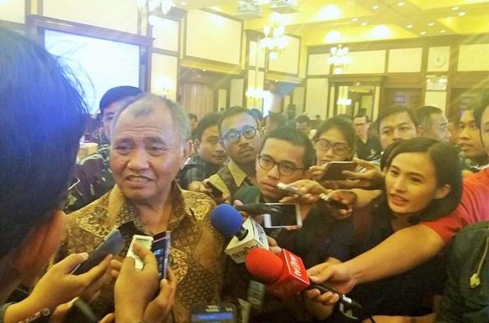 Ketua KPK Agus Rahardjo usai menjadi pembicara di Kantor Kemenhan, di Merdeka Barat, Jakarta Pusat, Selasa, (22/11/2016)/Foto Fadilah / NUSANTARAnews