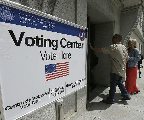 ASalah Satu Lokasi tempat pemungutan suara Pilpres AS. Foto via newsmax