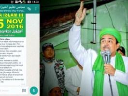 Edaran Pesan Berantai Soal Aksi Bela Islam III atas nama Habib Rizieq/Foto Ilustrasi SelArt/Nusantaranews