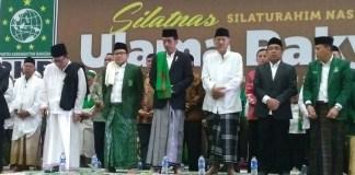 "Presiden Joko Widodo di samping Cak Imin saat acara #SilatnasUlamaRakyat ""Doa Bersama untuk Keselamatan Bangsa"" di Econvention, Ancol, Jakarta Utara, Sabtu (12/11)/Foto: Istimewa (Dok. Saiful Aiman @sfl_aimn)"